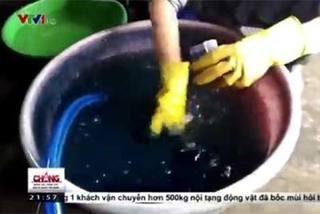 Ngâm hàng trăm cân rau muống chẻ trong hóa chất