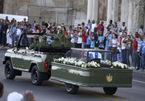 Hình ảnh xe chở tro cốt lãnh tụ Fidel Castro về nơi an nghỉ