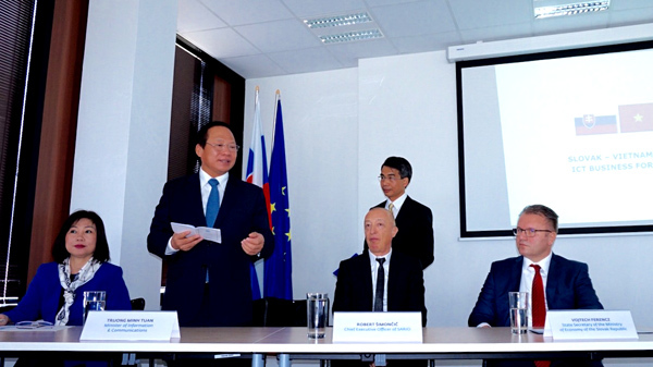hợp tác, ICT, Việt Nam, Slovakia, Bộ trưởng, TT&TT, Trương Minh Tuấn,