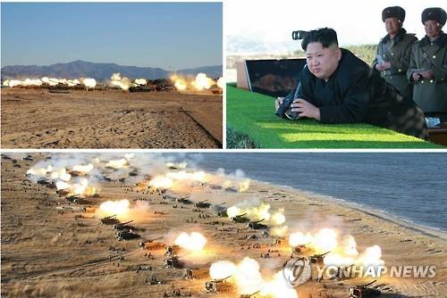 Triều Tiên tập trận mô phỏng tấn công Hàn Quốc