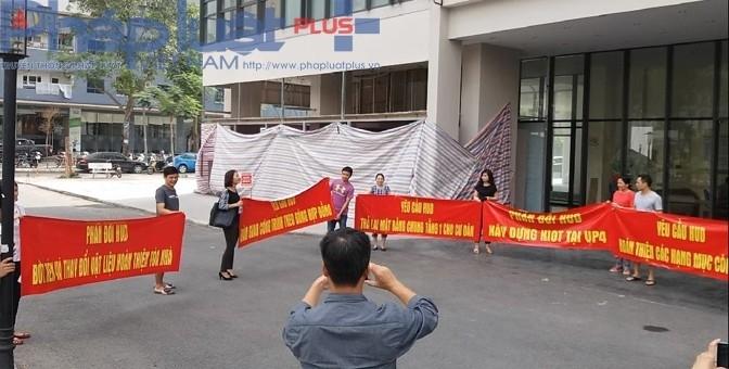 Chung cư VP4 Linh Đàm: Chủ đầu tư xây dựng kiot khiến cư dân bức xúc