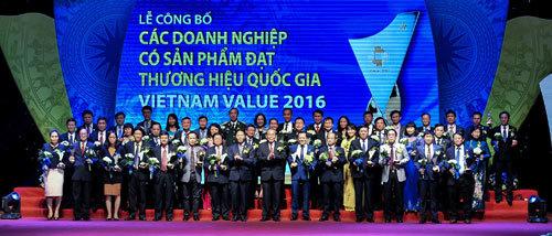 Thương hiệu Quốc gia 2016 vinh danh 88 doanh nghiệp tiêu biểu