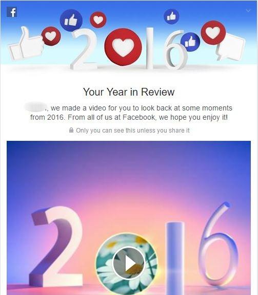 Facebook tung tính năng video 'Nhìn lại một năm'