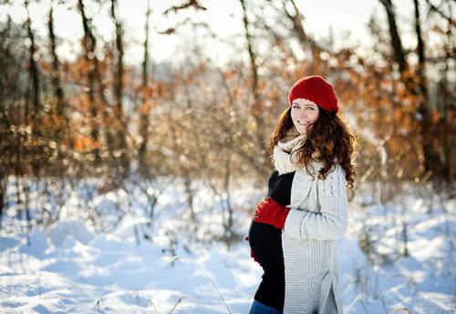 Bà bầu, chăm sóc, thai kì, mùa lạnh, cảm cúm, nhiễm lạnh
