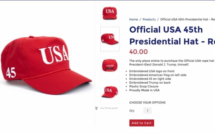 Trump bán mũ tổng thống