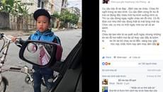 Cậu bé xin lỗi khi đâm vào taxi