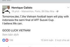 HLV Calisto tin tuyển Việt Nam đả bại Indonesia