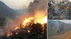 Hình ảnh máy bay Pakistan rơi nổ tan tành