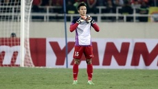 Quế Ngọc Hải làm thủ môn bất đắc dĩ trong trận gặp Indonesia