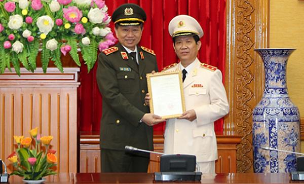 Tô Lâm, Bộ trưởng Công an, Nguyễn Văn Sơn, Thứ trưởng Công an, thăng hàm trung tướng