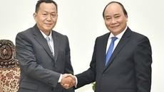 Thủ tướng tiếp Tổng giám đốc Thông tấn xã Pathet Lào