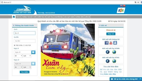 Nhiều trang web bán vé tàu hỏa giá 'cắt cổ'