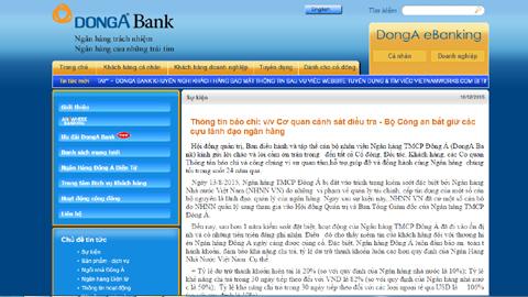 Khởi tố nguyên TGĐ Ngân hàng Đông Á Trần Phương Bình