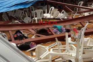 Cảnh tượng kinh hoàng vụ sập nhà thờ làm 160 người chết