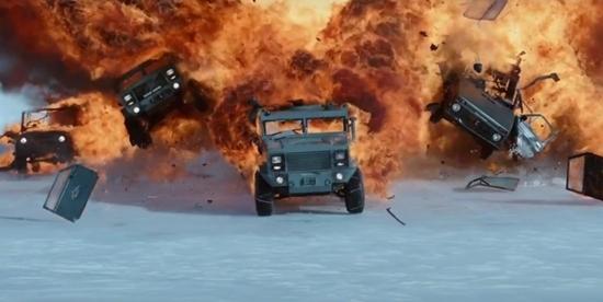 Ngắm cảnh hành động mãn nhãn trong 'Fast and Furious 8'