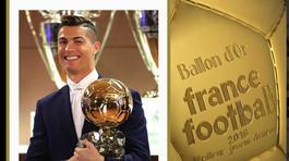 Ronaldo bảnh bao nhận Quả bóng Vàng