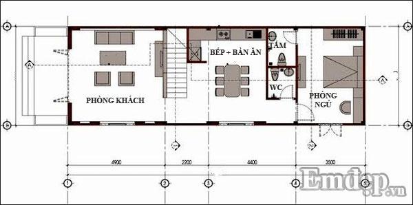 Tư vấn xây nhà hai tầng 40m2 sử dụng giếng trời