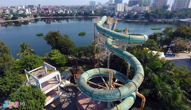 Công viên nước bỏ hoang giữa thủ đô vì chủ đầu tư nợ tiền tỷ