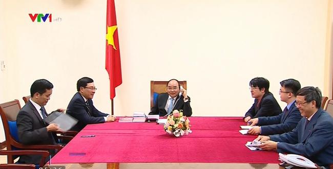 Thủ tướng điện đàm với Tổng thống đắc cử Donald Trump