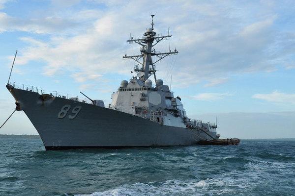 Tàu khu trục tên lửa Mỹ tới cảng quốc tế Cam Ranh