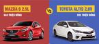 So sánh Mazda 6 mới giảm giá 170 triệu và Toyota Altis