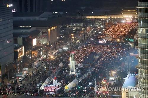 Biểu tình khổng lồ ở Hàn Quốc