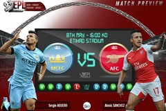 Link xem trực tiếp Man City vs Arsenal 23h00 ngày 18/12