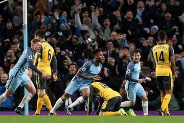 Video bàn thắng Man City 2-1 Arsenal