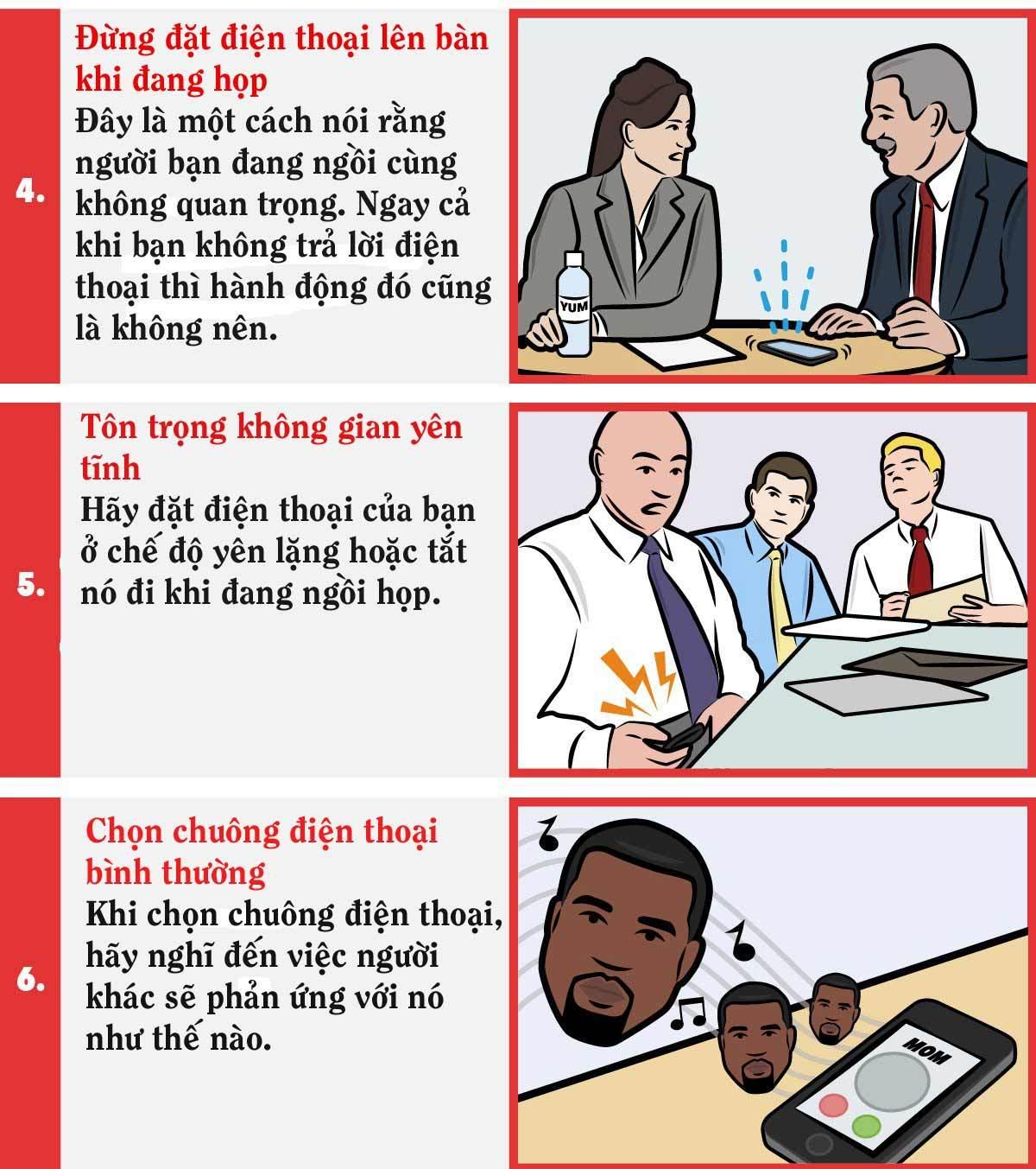 8 phép lịch sự khi dùng điện thoại dân công sở cần biết