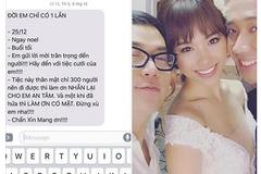 Lộ nội dung tin nhắn mời cưới khác người của Trấn Thành