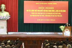 800 lãnh đạo cơ quan báo chí học tập, quán triệt Nghị quyết TƯ 4