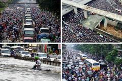 Nhịp điệu giao thông Hà Nội, Sài Gòn 2016: Tắc - Lụt