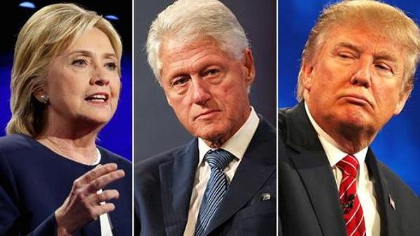 Trump và nhà Clinton không ngừng đấu tố nhau