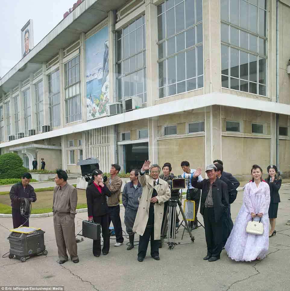 Ảnh hiếm về phim trường Triều Tiên