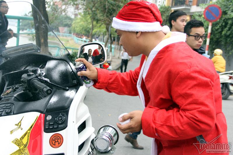 Noel, giáng sinh, ông già noel, xe mô tô