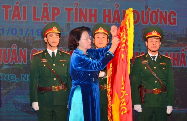 Nguyên Bí thư Hải Dương Bùi Thanh Quyến nhận huân chương Độc lập