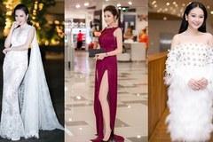 Á hậu Tú Anh đẹp kiêu kỳ trong chiếc váy xẻ 'tai tiếng' nhất năm