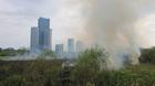 Hà Nội: Cây xanh, thảm cỏ cháy không rõ nguyên nhân