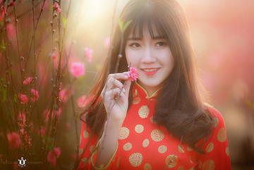 """""""Cô gái vườn đào"""" trong bức ảnh ấn tượng Việt Nam của Reuters"""