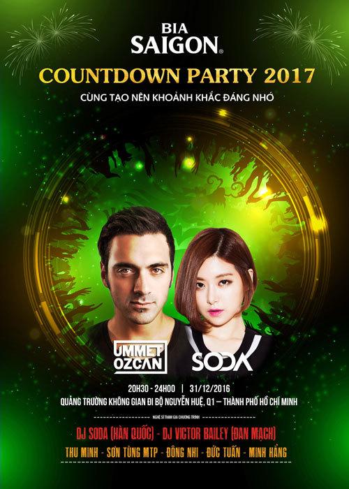Dàn sao 'khủng' khuấy đảo lễ hội Countdown 2017 tại TP.HCM