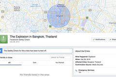 Facebook bị lừa kích hoạt Safety Check ở Bangkok