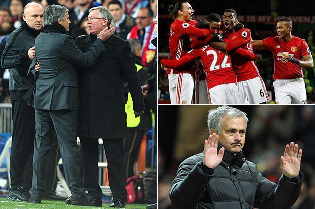 MU, Mourinho, Sir Alex Ferguson