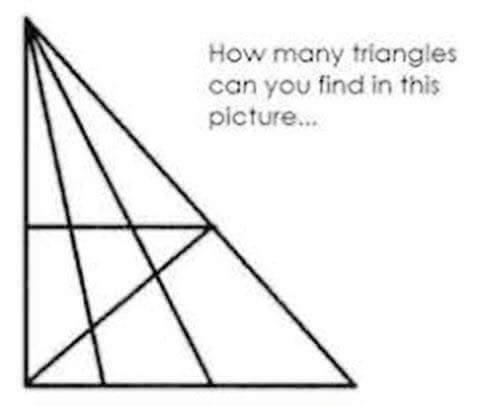 Bài toán đếm hình tam giác đang thu hút cả nghìn lượt suy đoán
