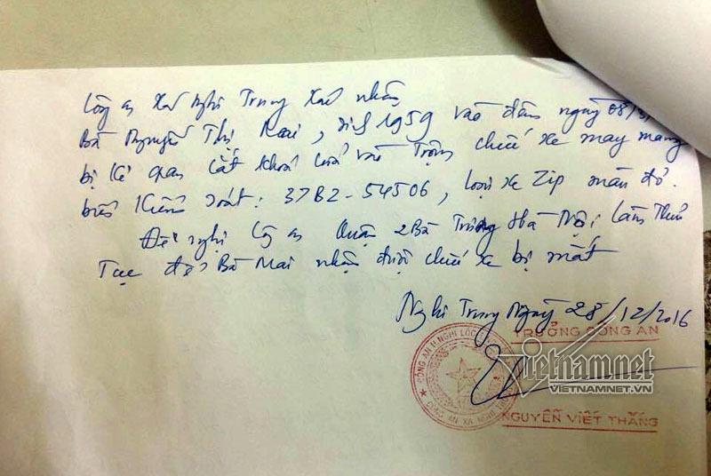 Vượt 300km nhận xe mất trộm nhờ đọc VietNamNet