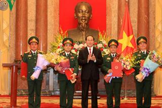 Thăng hàm Thượng tướng cho 4 sĩ quan quân đội