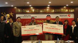 Hai người Bến Tre, Thái Bình chia giải độc đắc điện toán 159 tỷ