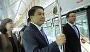 Chủ tịch Nguyễn Đức Chung trải nghiệm chuyến buýt nhanh đầu tiên