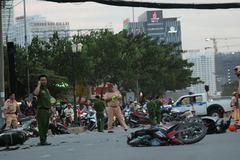 Tông xe liên hoàn ở Sài Gòn, nhiều người bị thương nặng