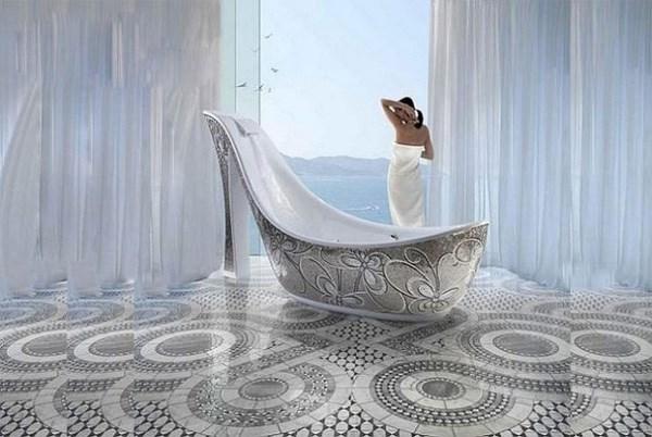 Kinh ngạc bồn tắm độc đáo nhất quả đất