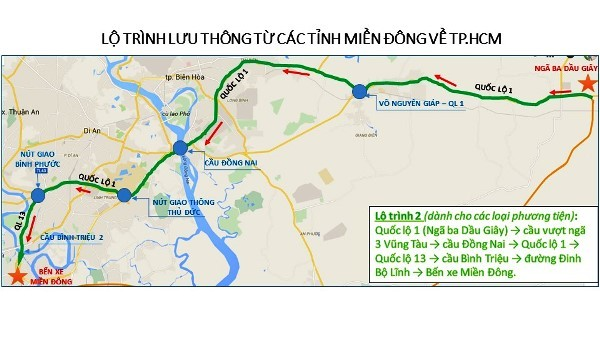 Nghỉ Tết Đinh Dậu 2017: Lộ trình nào tránh kẹt xe ở Sài Gòn